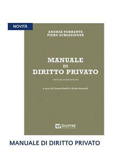 Manuale Di Diritto Privato Torrente 25 edizione Anno 2021