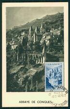 FRANCE MK 1948 ABBAYE DE CONQUES MAXIMUMKARTE CARTE MAXIMUM CARD MC CM ah93