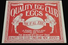 Vintage Quality Egg Club of Vineland New Jersey Crate Label