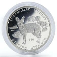 Namibia 10 dollars Otocyon Megalotis proof silver coin 2009