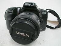 Minolta Maxxum 400SI 35mm SLR Film Camera With AF Zoom Lens TESTED WORKING