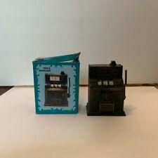 Vintage Die Cast Metal Miniature Slot Machine Pencil Sharpener With Box