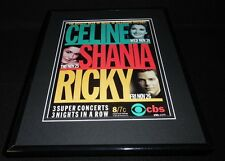 Celine Dion Shania Twain 1999 Cbs Concerts Framed 11x14 Original Advertisement