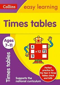 Collins Times Tables Home Learning Workbook Kids Age 7-11 years New KS2