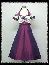 dress190 Purple Floral Cap Sleeve 50s Rockabilly Prom Party Cocktail Dress 16