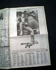 Best BEVERLY HILLS COP Movie Opening Day AD Review 1984 Los Angeles CA Newspaper