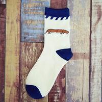 Women Men Unisex Winter Warmer Casual Socks Cute Dog Cartoon Cotton Sports Socks