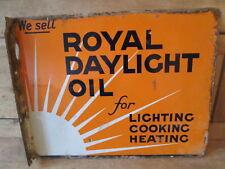 royal daylight oil enamel sign. vintage sign.Shell. BP. oil sign.