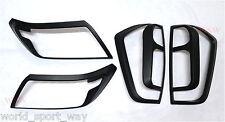 Nissan Navara NP300 D23 Matte Black Head Light Tail Lamp Trim Cover 2015 to 2017