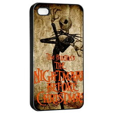 Nightmare Before Christmas Apple iPhone 4/4s Seamless Case Cover Black for Gifts