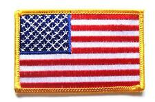 EMBROIDERED AMERICAN FLAG PATCH iron on / sew on USA cloth badge Red White Blue