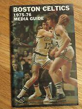 1975-76 BOSTON CELTICS Media Guide RED AUERBACH JOHN HAVLICEK DAVE COWENS