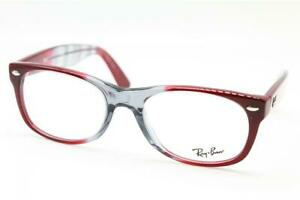NEW RAY-BAN RB 5184 5517 RED GREY AUTHENTIC FRAMES EYEGLASSES RB5184 52-18