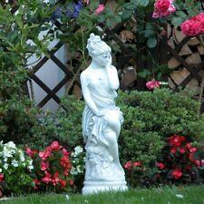 Massive Steinfigur Statue Frühling Frau auf Podest aus Steinguss frostfest