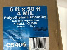 Film-Gard Polyethylene Sheeting 6' X 50' 4mil Clear C5406