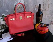 HERMES Birkin 30cm rouge red gold hardware leather bag purse togo clemence 959da4af6d