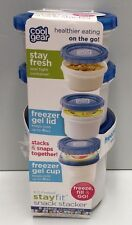 COOLGEAR EZ-FREEZE SNACK STACKER CONTAINERS X 3 BLUE