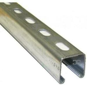 Legrand Unistrut Metal Channel 41x41 Slotted Pre Galvanised 2 x 3m Lengths (6m)