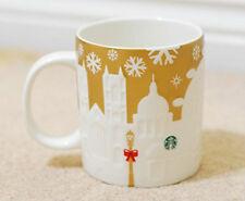 LONDON ENGLAND STARBUCKS Gold Relief Christmas Holiday Mug