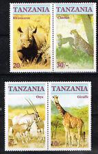 Tanzania Fauna African Wild Animals set 1973 MNH