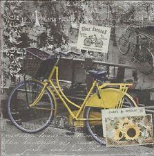 2 Serviettes en papier Amsterdam Vélo jaune Paper Napkins Ville Monde