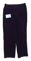 Womens Marks & Spencer Purple Corduroy Blend Trousers Size 10/L26