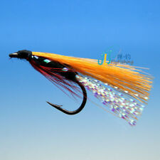 12 PCS Orange stripe streamer Flies fly fishing #8 W/ Free Box D531