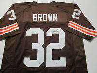 JIM BROWN / NFL HALL OF FAME / AUTOGRAPHED CLEVELAND BROWNS CUSTOM JERSEY / COA