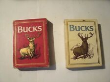 1#K Vintage Bucks (Red Deck) Playing Cards Bucks