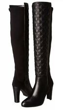 STUART WEITZMAN Over Knee BOOTS Size: 11 US (EU 42) New SHIP FREE Black Leather
