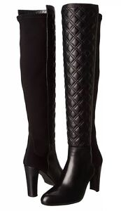 STUART WEITZMAN Over Knee BOOTS Size: 11 US (EU 42) New SHIP FREE Black Leather