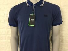 Hugo boss men's paddy polo 2 blue denim grey M-3XL green label RRP £89 bnwt