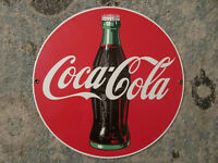 1990 vintage coca cola bottle advertisement sign coke porcelain