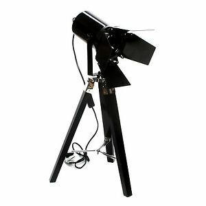 Floor Lamp Spot Tripod Lamp With Fold Black Headlight