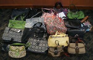 Lot of 19 COACH Purses Totes Shoulder Handbags Various Materials Colors & Styles