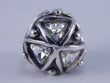 AUTHENTIC TROLLBEADS Crystal Triangles Bead Silver TAGPE-00027 $105 (ONE) NEW!