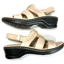 Clarks Collection Women's Lexi Qwin Sandals Blush Leather Size 11 M NEW