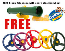 KIDS STEERING WHEEL + TELESCOPE climbing frame playhouse jungle gym SOLD, garden