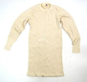 Swedish Army Thermal Tops Cold Weather Ribbed Thermals Long Sleeve Top Underwear