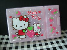 2012 Sanrio Japan Hello Kitty STARWBERRY FOOD BOX cosmetic stationery 7.5X5""