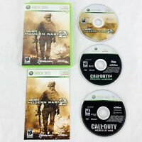 Xbox 360 Lot of 3 Games Call of Duty Modern Warfare 2 & 4 World At War