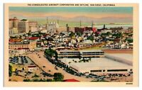 Consolidated Aircraft Corporation and Skyline, San Diego, CA Postcard *5Q(2)7