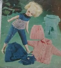 KNITTING PATTERN for Sindy Dolls cloths 3 ply 2301