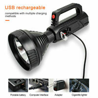 Waterproof Bright LED Searchlight Flashlight Rechargeable USB Spotlight Torch