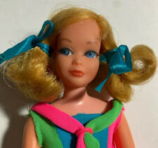 BEAUTIFUL Dramatic Living Skipper Doll #1147 - 1970 Original Swimsuit & Stand