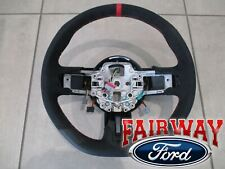 15 thru 17 Mustang OEM Ford Alcantara Suede Steering Wheel Shelby GT350R RED