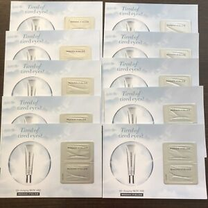 10x Rodan + and Fields Active Hydration Bright Eye Complex Sample Card Set New