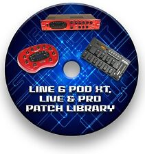 More details for line 6 pod xt guitar effects pedals - sounds tone patches library 7,500+ cd