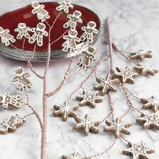 """NEW RAZ F3716494 24"""" GINGERBREAD AND SNOWFLAKE PICK Lot of 2 Claydough NEW WOW!"""