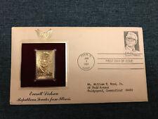 Replica Of US Stamp 22Kt Gold 1st Day Issue W/STAMP 1981 Everett Dirksen